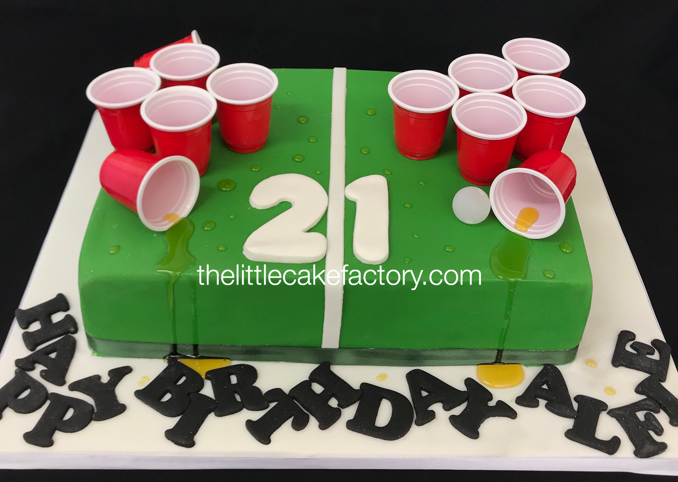 beer pong 21st cake Cake | Celebration Cakes