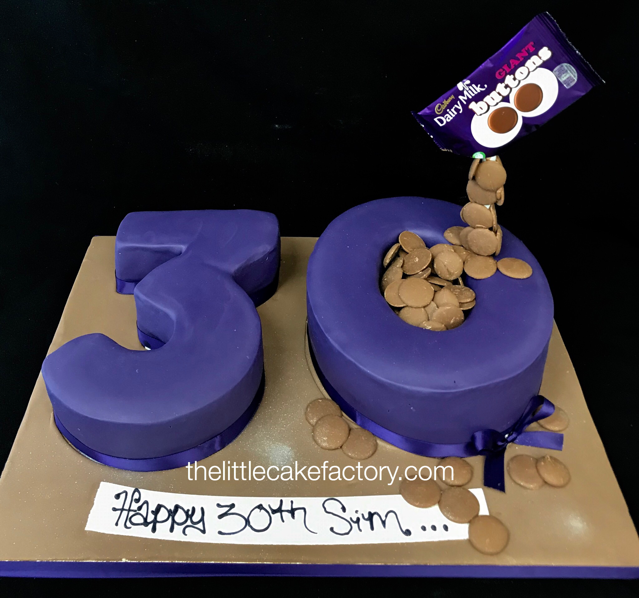 Cadbury 30 from £120 Cake | Numbers Cakes