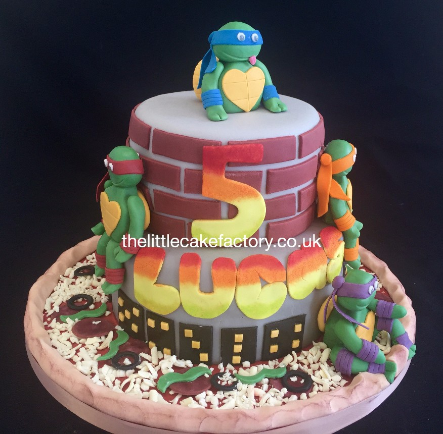 Turtles Pizza Base Cake |  Cakes