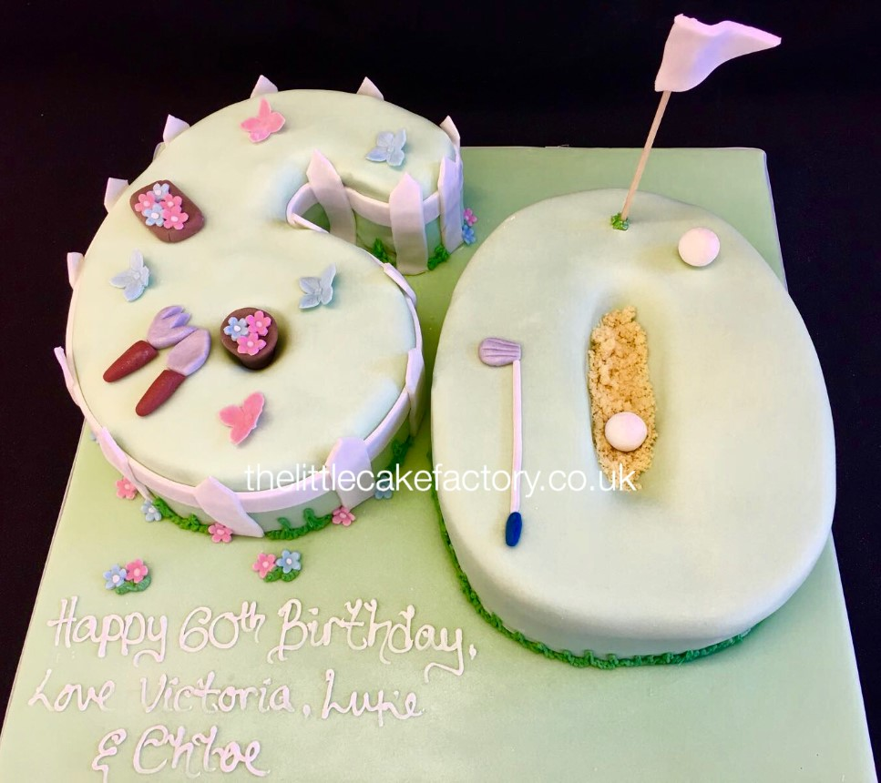 60th Joint Birthday Cake |  Cakes
